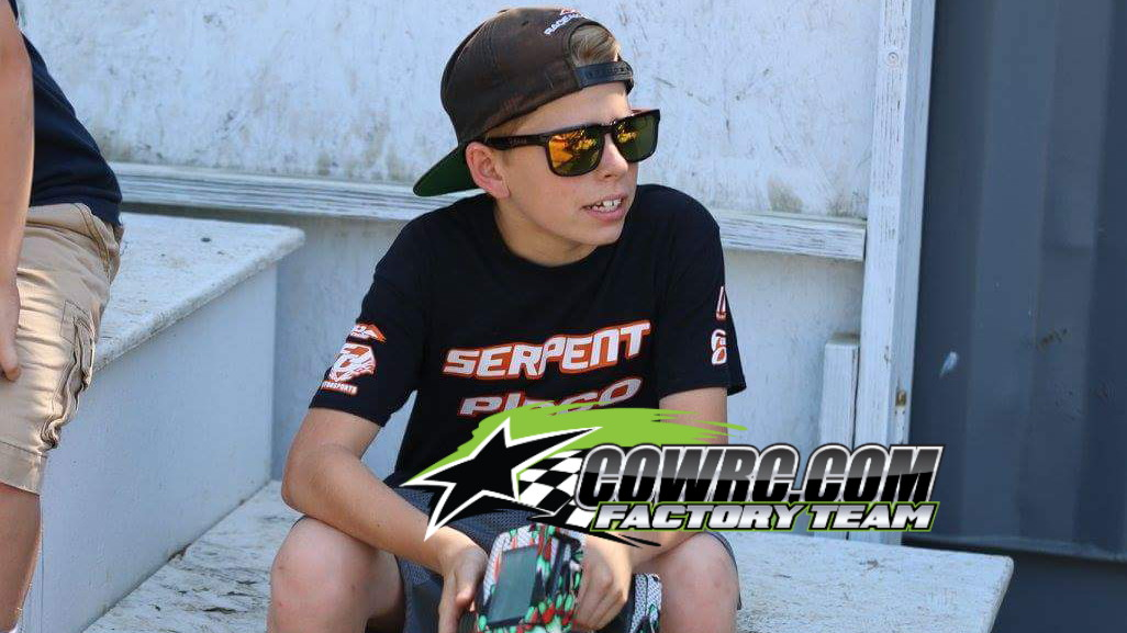 %name Austin Woodyard.  Young, ambitious and fast! Already well respected and much loved in the sport, has joined the CowRC Factory Team!